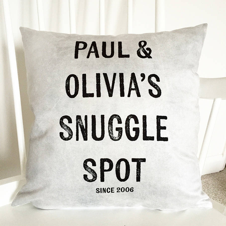 Personalised Snuggle Spot Cushion