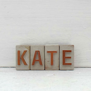 Personalised Concrete Initials - home accessories