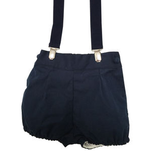 Pepe Oxford Blue Shorts With Braces - shorts