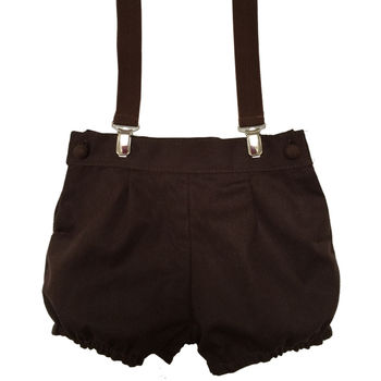 Pepe Dark Brown Shorts With Braces