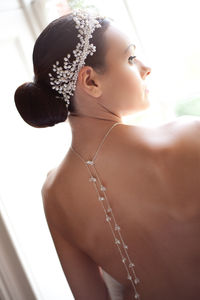 Sterling Silver, Pearl And Crystal Backdrop Necklace