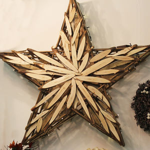 Extra Large Wood Slice Star - view all sale items