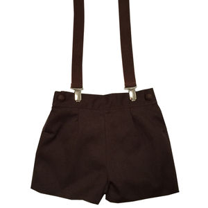 Albertos Brown Shorts With Braces - clothing