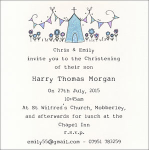 Personalised Pack Of Christening Invitations - christening invitations