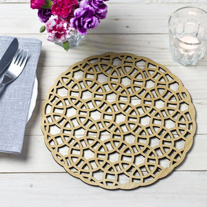 Abstract Circles Place Mats - placemats & coasters