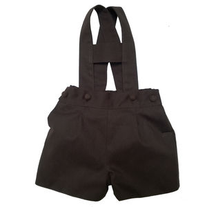 Albertos Brown Romper Shorts - shorts