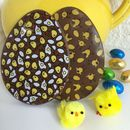 Chocolate Easter Eggs With Chick Design