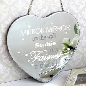 Mirror Mirror On The Wall Personalised Heart Mirror - mirrors