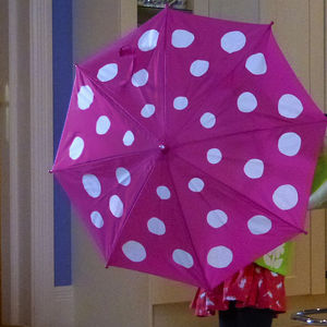 Child's Colour Changing Polka Dot Umbrella - clothing