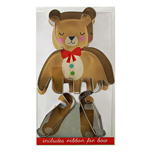Bake Your Own 3D Sitting Teddy Bear W Ribbon - cookie cutters