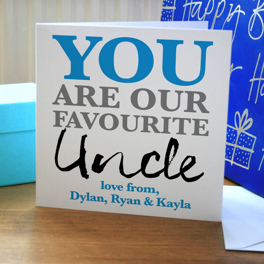 Personalised Favourite Uncle Birthday Card