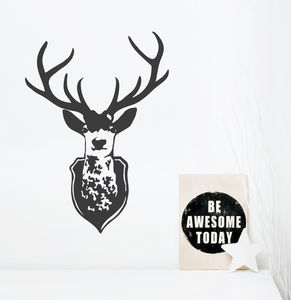 Stag's Head Wall Sticker - wall stickers