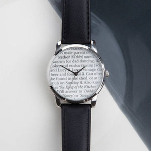 Personalised Father Definition Watch