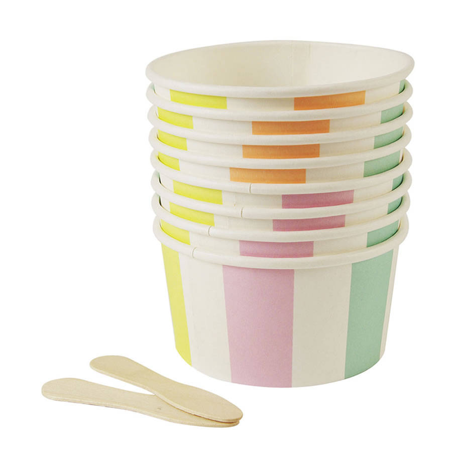 ice cream cups set of sweet cups with wooden spoons by 30318