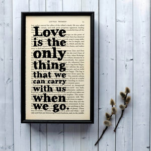 Bookish Wedding Little Women Quote Print