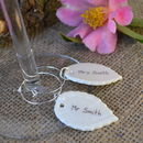 Woodland Style Wedding Glass Charms