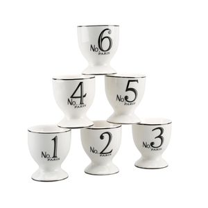 Set Of Six Numbered Egg Cups - kitchen