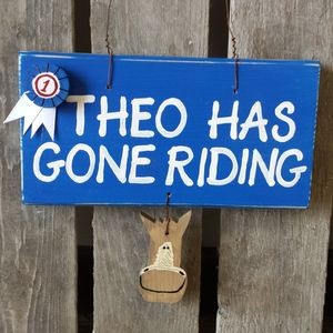 Personalised Horse Riding Sign - signs