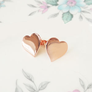 Heart Stud Earrings - flower girl jewellery