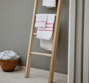 Oak Towel Ladder - bathroom