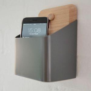 Small Oak And Metal Wall Storage Box - kitchen accessories