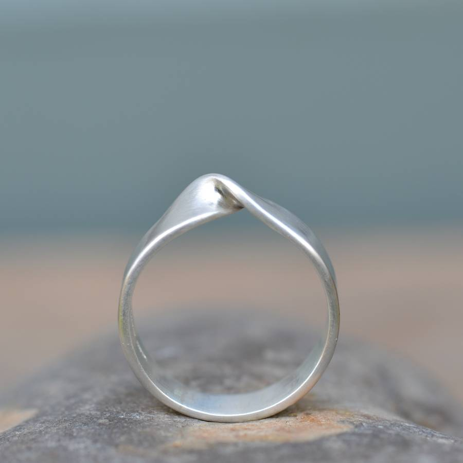 Handmade Silver Infinity Twist Wedding Ring