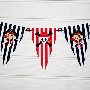 Pirate Themed Reversible Bunting