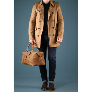 Handmade Butterscotch Leather Starboard Holdall - men's sale
