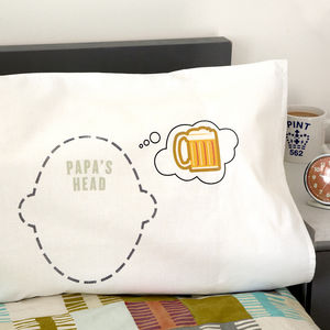 Personalised 'Beer Dreams' Pillowcase For Beer Lovers - bed linen