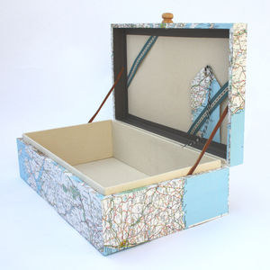 Bespoke Vintage Map Keepsake Box