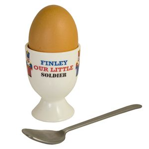 Personalised Soldier Egg Cup - children's tableware