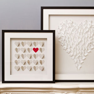 Framed 3D Box Of Hearts Artwork - contemporary art
