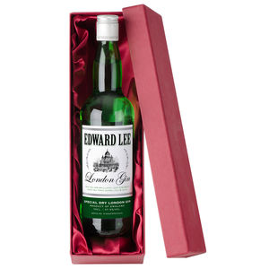 Personalised Gin In Silk Lined Box
