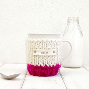 Personalised Colour Block Cosy And Mug - tableware