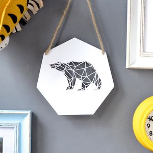 Geometric Bear Artwork - pictures & prints for children