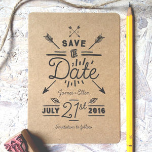 Native Eco Save The Date - wedding stationery
