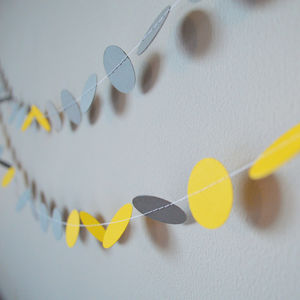 'Yellow And Grey' Paper Garland - on trend: yellow & grey