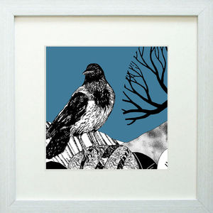 Highland Hoodie, Blue Giclee Print - posters & prints
