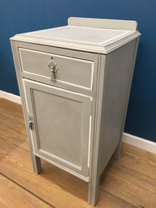 Grey Painted Bedside Cabinet