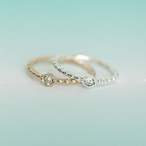Delicate Jewel Ring - rings