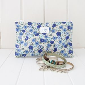Floral Compact Cosmetic Bag