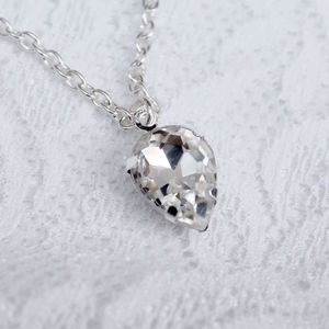 Clear Crystal Pendant Crystal Bridal Necklace