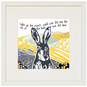 The Hare, Yellow Giclee Print - contemporary art