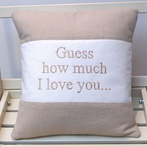 'Guess How Much I Love You' Cushion - cushions