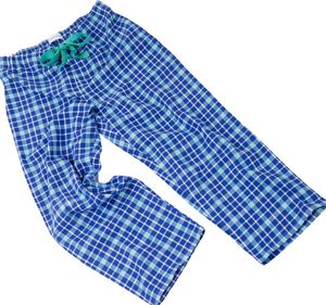 Blue And Turquoise Check Pyjama Bottoms For Teenagers