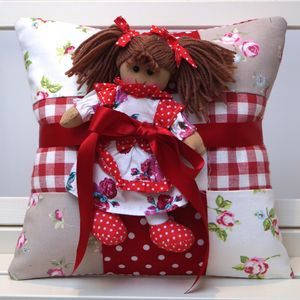 Red Personalised Name Cushion Gift Set