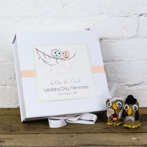 Personalised Owls Wedding Memory Box - keepsake boxes