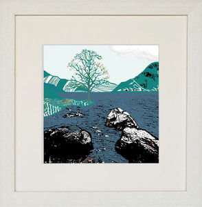 By The Water, Blue Giclee Print - contemporary art