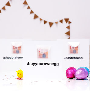 Hashtag Personalised Easter Card Cash Gift - easter cards