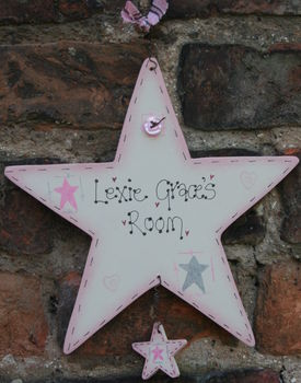 Handmade Star Name Plate